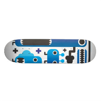 Cool skateboard with blue monster graphics