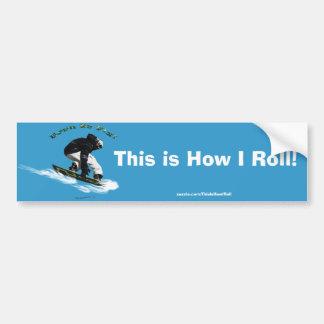 Cool Snow Boarder Winter Sports Theme Bumper Sticker
