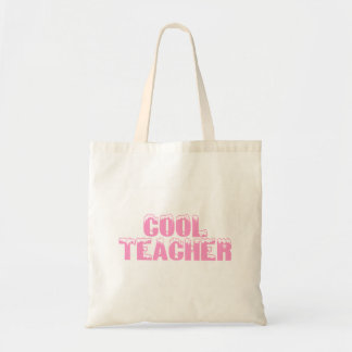 Cool Teacher (Pink) Budget Tote Bag