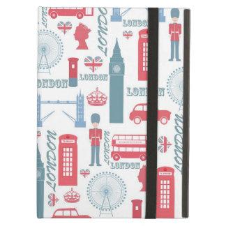 Cool trendy vintage London landmark illustrations iPad Air Case