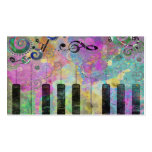 Cool watercolours splatters colourful piano pack of standard business cards