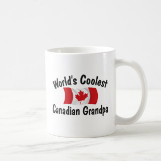 Coolest Canadian Grandpa Basic White Mug