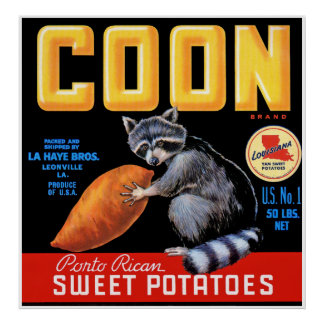 Coon Brand Sweet Potatoes Poster