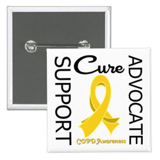 COPD Support Advocate Cure 15 Cm Square Badge