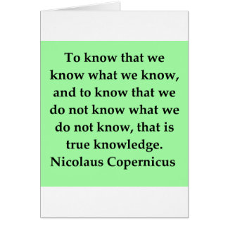 copernicus quote greeting card