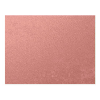 Coral Pink Foil Printed Postcard
