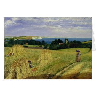 Corn Field in the Isle of Wight Greeting Card