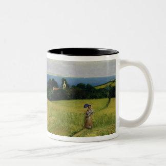 Corn Field in the Isle of Wight Two-Tone Mug
