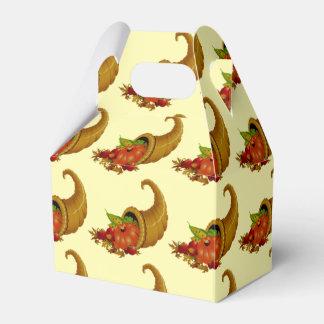 Cornucopia / Horn of Plenty Yellow Wedding Favour Boxes