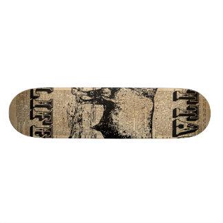 Cottage Life Vintage Countryside Dictionary Art 21.3 Cm Mini Skateboard Deck