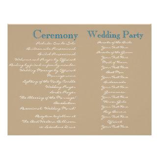 Cottage Vintage Wedding Ceremony Program 21.5 Cm X 28 Cm Flyer