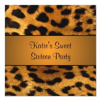 Cougar Tiger Sweet 16 Birthday Party Invitation