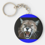 CougarPhotoSnarl Basic Round Button Key Ring