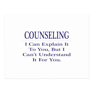 Counselor Joke .. Explain Not Understand Postcard
