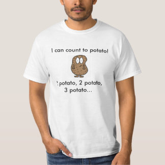 count to potato t-shirt