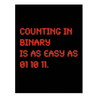Counting in Binary Postcard
