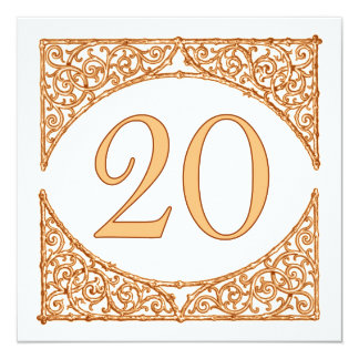 Country Wedding Wood Screen Table Number 20 13 Cm X 13 Cm Square Invitation Card