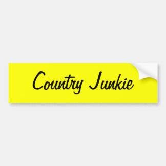 County Junkie sticker for those who love country Bumper Sticker