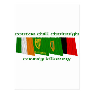 County Kilkenny Flags Postcard