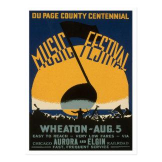 County Music Festival, 1939 Postcard