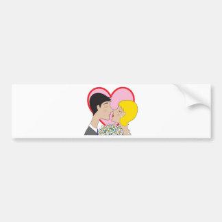Couple Kissing Bumper Sticker