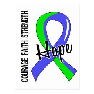 Courage Faith Hope 5 EDS Postcard