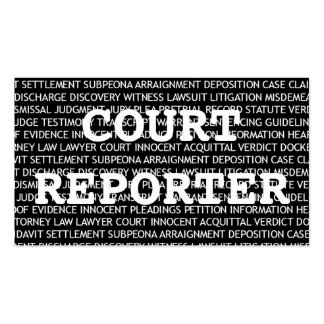Court Reporter Words Business Card