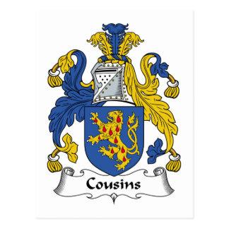 Cousins Family Crest Postcard