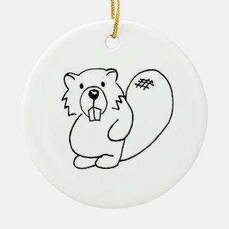 Covey Logic Uncolored Beaver Ornament