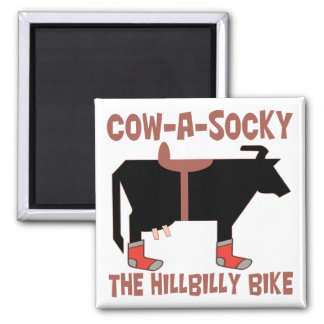 Cow A Socky Square Magnet