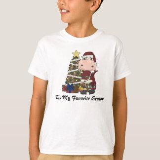 Cow & Christmas Tree T-shirt
