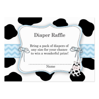 Cow Cowboy Diaper Raffle Ticket Pack Of Chubby Business Cards
