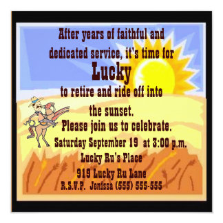 Cowboy and Blue Jean Retirement Party Invitation