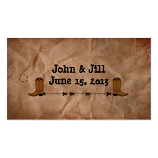 Cowboy Boots Wedding Favor Hang Tag Pack Of Standard Business Cards