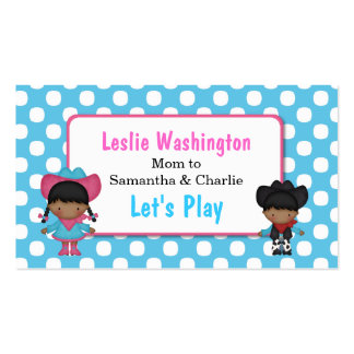 Cowboy & Cowgirl Play Date Card Pack Of Standard Business Cards