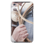 Cowboy holding a rope barely there iPod case