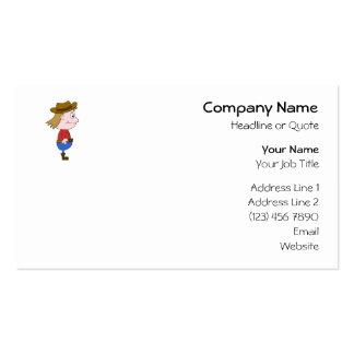 Cowboy illustration. pack of standard business cards