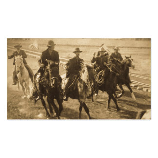 Cowboys Following Teddy Roosevelt's Train 1903 Pack Of Standard Business Cards