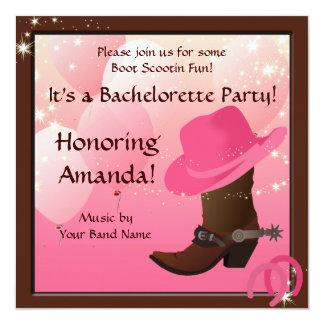 Cowgirl Bachelorette Party Custom Invite