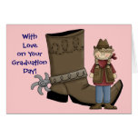 Cowgirl Graduation Boot & Spur - Western Greeting Card