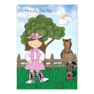 Cowgirl Princess Birthday Party Invitation