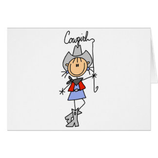Cowgirl with Lasso Tshirts and Gifts Greeting Card