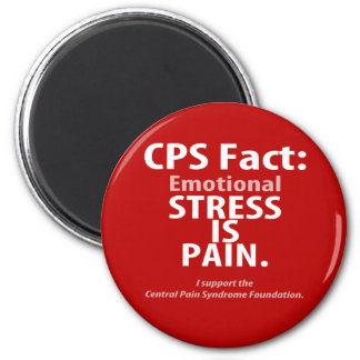 CPS Fact: Emotional Stress is Pain 6 Cm Round Magnet