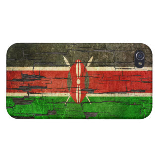 Cracked Kenyan Flag Peeling Paint Effect Case For The iPhone 4