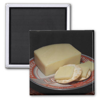 Crackers and Cheese Square Magnet