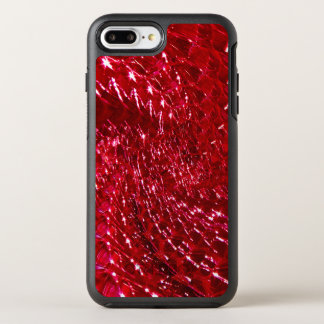 Crackled Glass Swirl Design - Ruby Red OtterBox Symmetry iPhone 7 Plus Case