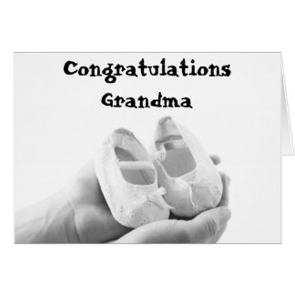 Cradled Baby Shoes Greeting Card
