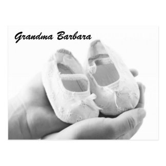 Cradled Baby Shoes Postcard