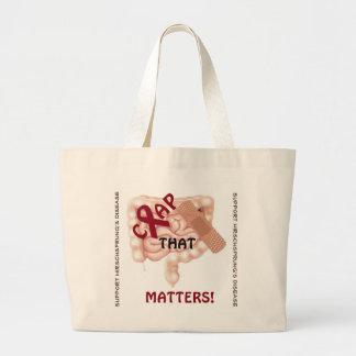 Crap That Matters! Support Hirschsprung's Disease Jumbo Tote Bag