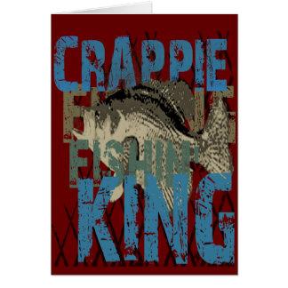 Crappie Fishin' King Greeting Card